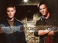 Sam and Dean layout made by Brittany of Vampish Designs