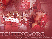Christmas layout made by Courtney of chosen.nu featuring Christmas episode of Glee.